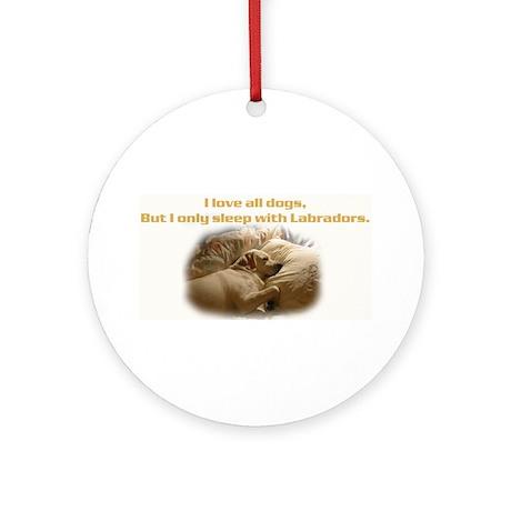 Custom Photo Labrador Ornament (Round)