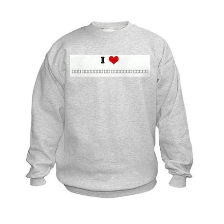 I Love эту Kids Sweatshirt