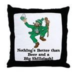 Beer and a Big Shillelagh! Throw Pillow