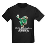 Beer and a Big Shillelagh! Kids Dark T-Shirt