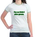 I'm So Irish I Piss Green Jr. Ringer T-Shirt
