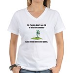 St. Patrick's Day Snake in My Pants Women's V-Neck