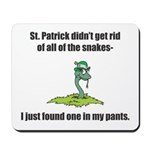 St. Patrick's Day Snake in My Pants Mousepad