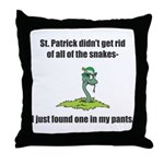 St. Patrick's Day Snake in My Pants Throw Pillow