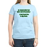There's a Snake in My Pants! Women's Light T-Shirt