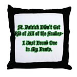 There's a Snake in My Pants! Throw Pillow