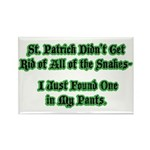 There's a Snake in My Pants! Rectangle Magnet (10