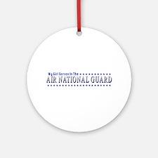 My Air Guard Girl Ornament (Round)
