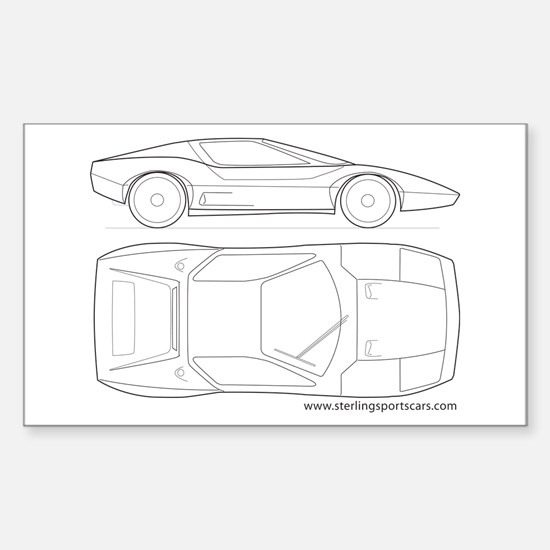car Rectangle Sticker 10 pk)
