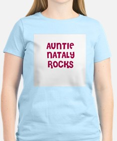 AUNTIE NATALY ROCKS Women's Pink T-Shirt