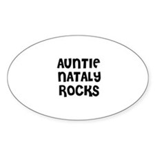 AUNTIE NATALY ROCKS Oval Decal