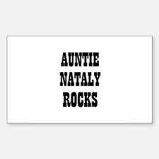 AUNTIE NATALY ROCKS Rectangle Decal