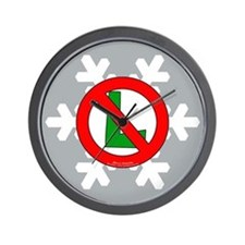No L Snowflake Wall Clock