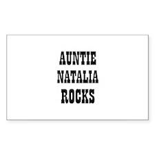 AUNTIE NATALIA ROCKS Rectangle Decal