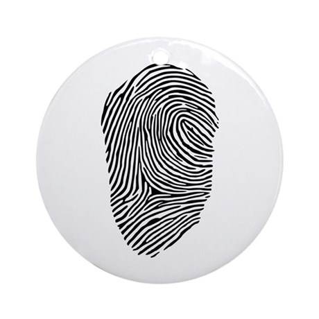 Fingerprint Ornament (Round)