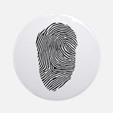Fingerprint Ornament (Round)