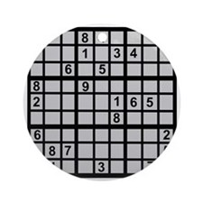 Sudoku - Brainteaser Ornament (Round)
