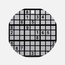Sudoku - Brainteaser Ornament (Round)