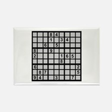 Sudoku - Brainteaser Rectangle Magnet