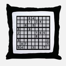 Sudoku - Brainteaser Throw Pillow