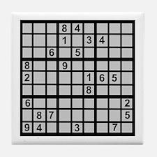 Sudoku - Brainteaser Tile Coaster