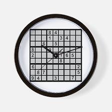 Sudoku - Brainteaser Wall Clock