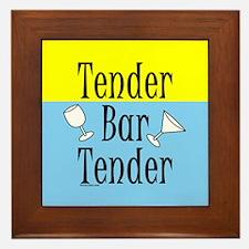 Tender Bartender Framed Tile