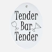 Tender Bartender Oval Ornament