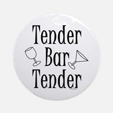 Tender Bartender Ornament (Round)