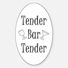 Tender Bartender Oval Decal