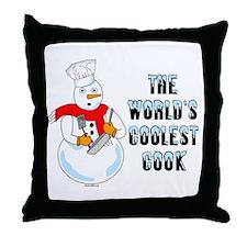Coolest Cook Throw Pillow