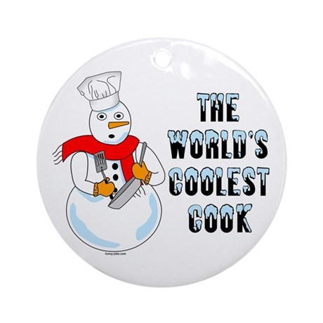 Coolest Cook Ornament (Round)