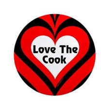 """Love The Cook Block 3.5"""" Button (100 pack)"""
