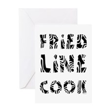 Fried Line Cook Greeting Card