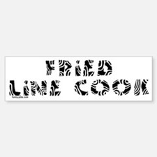 Fried Line Cook Bumper Bumper Bumper Sticker