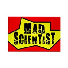 Mad Scientist Rectangle Magnet