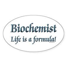 Biochemist Oval Decal