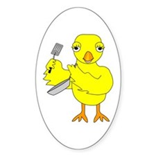 Cooking Chick Oval Decal
