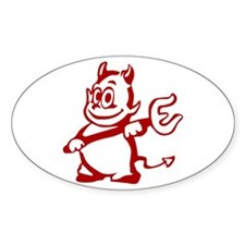 Devil Oval Decal