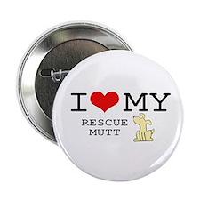 "I Love My Rescue Mutt 2.25"" Button (10 pack)"