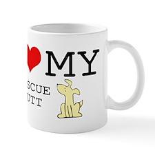 I Love My Rescue Mutt Mug