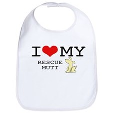 I Love My Rescue Mutt Bib