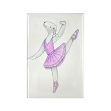 Dancing Bedlies-Ballerina Rectangle Magnet