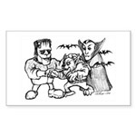 Funny Monsters Sticker (Rectangle 50 pk)
