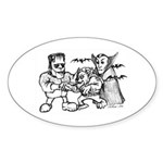 Funny Monsters Sticker (Oval 10 pk)