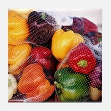 Peppers - Tile Coaster