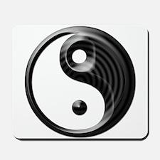 Black Striped Yin Yang Mousepad