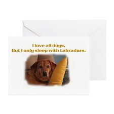 Fox Red Labrador Greeting Cards (Pk of 10)