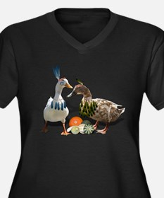 Cute ducks Women's Plus Size V-Neck Dark T-Shirt