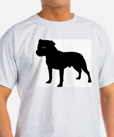 Staffordshire Bull Terrier Ash Grey T-Shirt